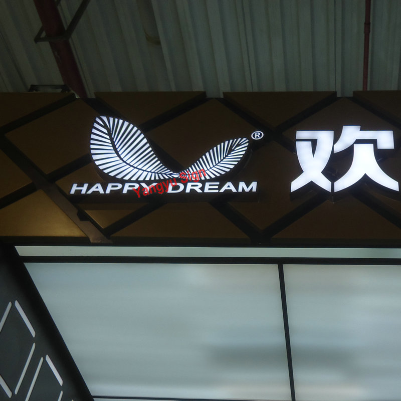 3D Advertising Acrylic LED Light Up Letters Sign Flower
