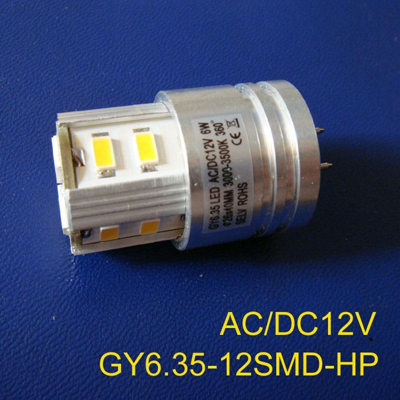 High quality 12VAC/DC 6w GY6.35 led lights,LED GY6.35 bulb 12V led GU6.5 Downlights GY6 Led crystal light free shipping 5pcs/lot