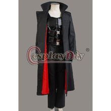 Cosplaydiy Custom Made Adult Men Blade Wesley Snipes the Vampire Slayer Coat Uniform Suit Outfit Carnival Party Cosplay Costume