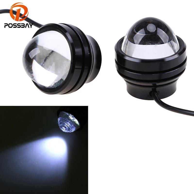 POSSBAY Car LED Fog Reverse Light Newest LED Eagle Eye White Light Daytime Running Tail Backup Light Universal For Cars