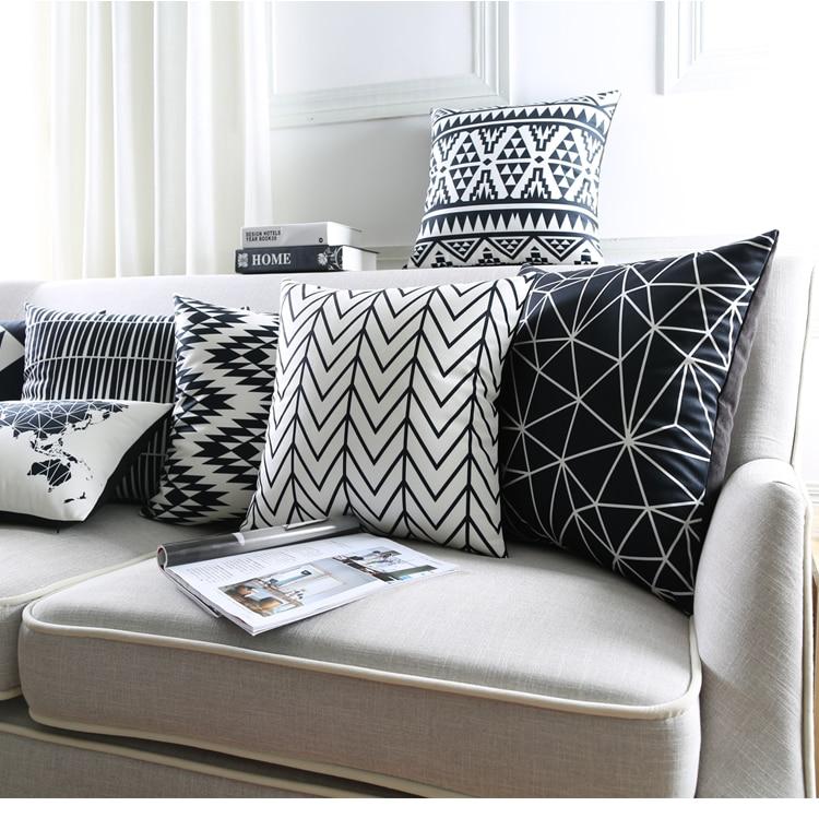 Geometic Throw Pillows Stripe Cushion Cover