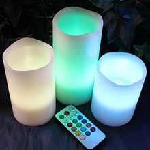 LED Candle Tea Lights Reachargable RGB LED Candle 10cm 12.5cm 15cm Flameless Battery Operated For Birthday Party Color Optional