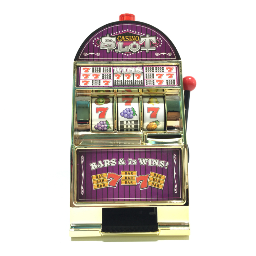 Fruit factory game - Free Shipping 1piece New Casino Jackpot Fruit Slot Machine Money Saving Box Kids Game Toy Coin