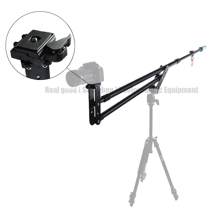 Nouveau 7.5ft caméra vidéo potence grue télescopique Mini Portable voyage flèche Extension bras Support Photo Studio accessoires pour DSLR DV