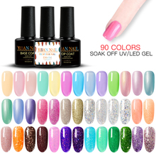 RBAN NAIL Pure Gel Varnish Color Hybrid Polish 7ml Manicure for Nails Design Shining Pink Green Colors UV Nail