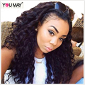 180% Density 360 Lace Wig For Black Women Brazilian Loose Curly Wave 360 Lace Frontal Wigs With Knots Bleached Natural Hairline