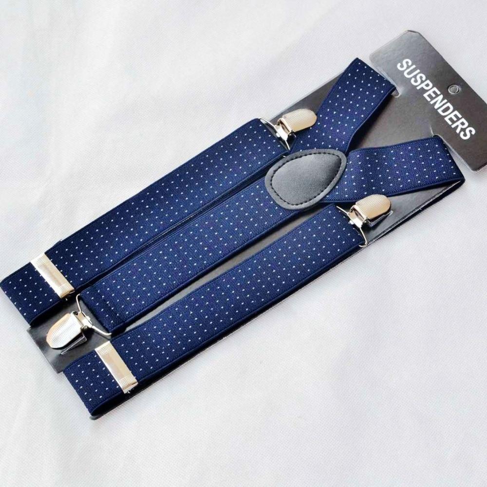 DKBLINGS Men's Gallus Business Men Jacquard Weave Braces With Firmly Clips 4 Versions 3.5cm Wide