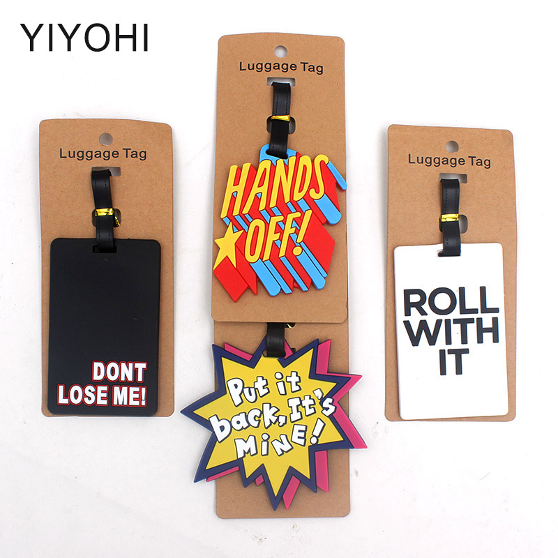 Travel Accessories Hands O Luggage Tag Fashion Women Silica Gel Suitcase ID Address Holder Baggage Boarding Tag Portable Label