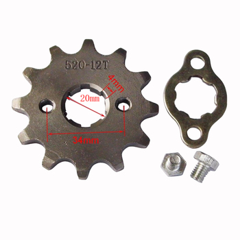 цена на 520 20mm 10 11 12 13 14 15 16 17 18 19 20 T Front Engine Sprocket For Honda Lifan ZongShen YCF ATV Quad Dirt Pit bike Buggy