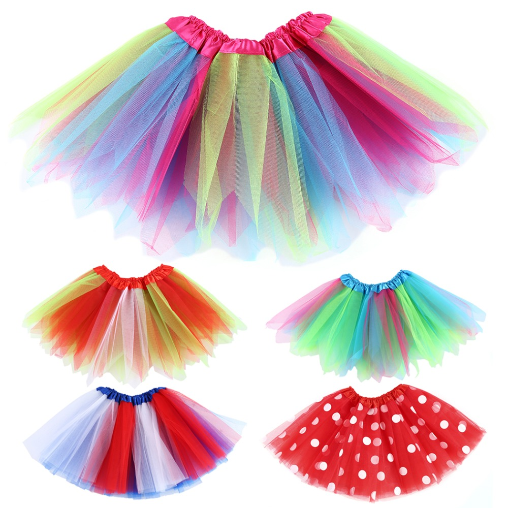 3-8Years Summer Style Girl Skirt Baby Kids Children Tutu Skirt Short Rainbow Patchwork Ball Gown Mini Skirts Baby Girls 2017 women summer spring black pencil mini skirt sexy female elegant short sheath slim office lady skirt casual fashion work skirts