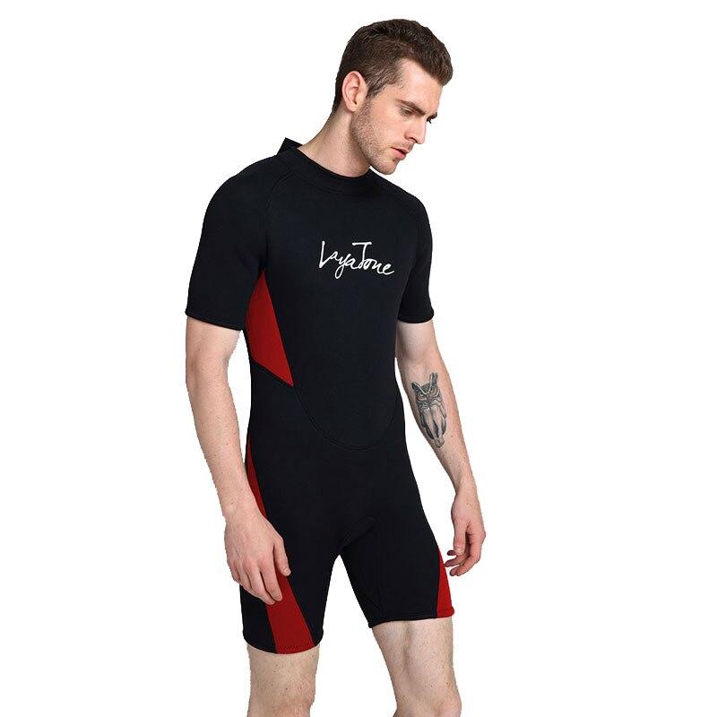 2019 3mm néoprène shorty natation combinaison pour hommes maillot de bain grandes tailles 6XL 5XL maillot de bain noir natation surf plongée combinaison - 4