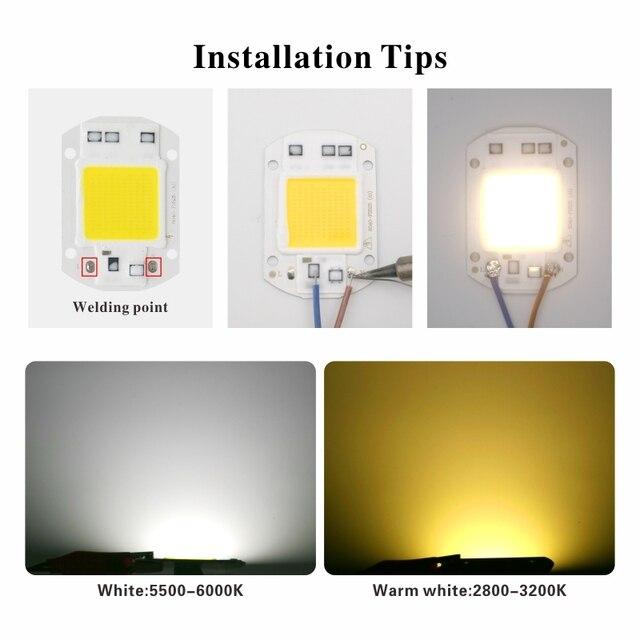 LED COB Chip 10W 20W 30W 50W 220V Smart IC No Need Driver 3W 5W 7W 9W LED Bulb Lamp for Flood Light Spotlight Diy Lighting 2