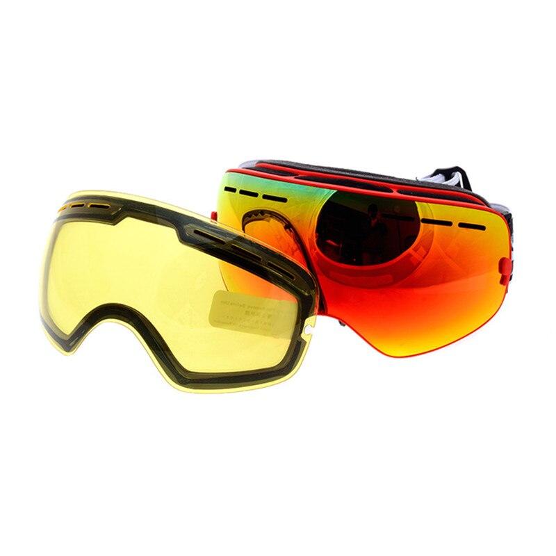 Prix pour 2016 Nouvelle Marque Double Anti-brouillard Grand Sphérique Ski Lunettes Professionnel Ski Lunettes Unisexe Lunettes de Neige avec Vision Nocturne lentille