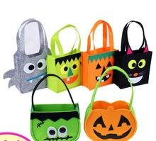 3 pcs lote Não-Tecido saco de doces de Halloween aranha bat tamborilar gato abóbora masquerade cosplay show de festa para as crianças festival adulto