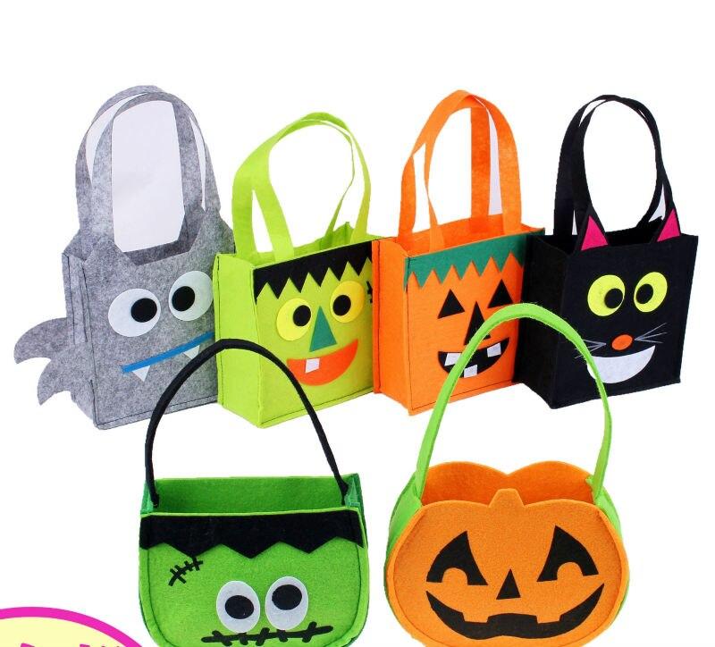 3ks hodně netkané halloween cukroví pytel pavouk kočka kočka plácat dýně maškarní cosplay show party pro děti dospělý festival