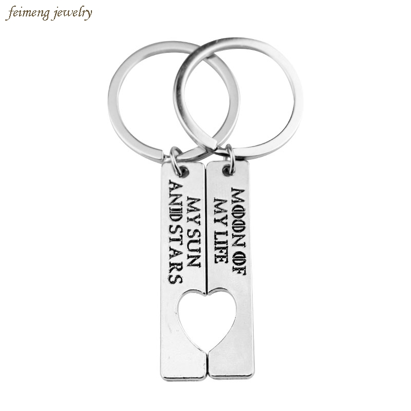 "Movie Game of Thrones Keychain Letter ""My Sun and Stars,Moon of My Life"" Heart Logo Cute Gift for Lovers Couples Accessories"
