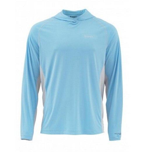 2018 Men Fishing Shirts Solarflex Hoody UPF50 Quick Dry Soft Fishing Clothing T shirt LS TEE