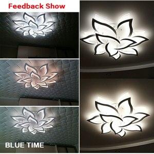 Image 5 - Candelabro LED moderno para sala de estar, lámparas de cocina, AC110V, 220V, accesorios de iluminación, cuerpo blanco