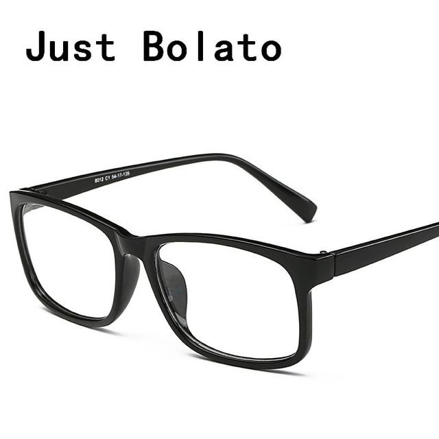 New Square Eyeglasses Frames Men Eyeglasses Black Frame With Clear ...