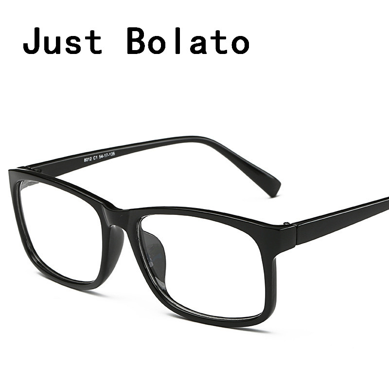 new square eyeglasses frames men eyeglasses black frame with clear glasses computer eye glasses women eyewear