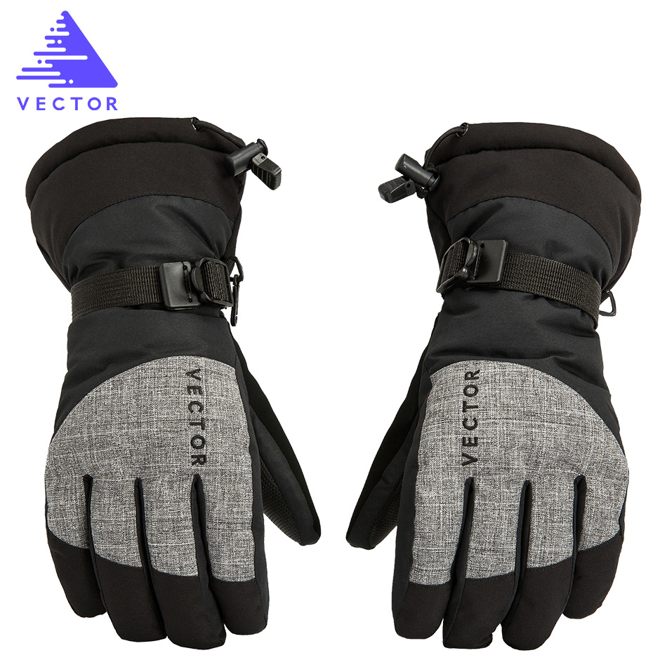 VECTOR Waterproof Ski Gloves Men Warm Skiing Snowboard Gloves Snowmobile Motorcycle Riding Winter Outdoor Snow Gloves