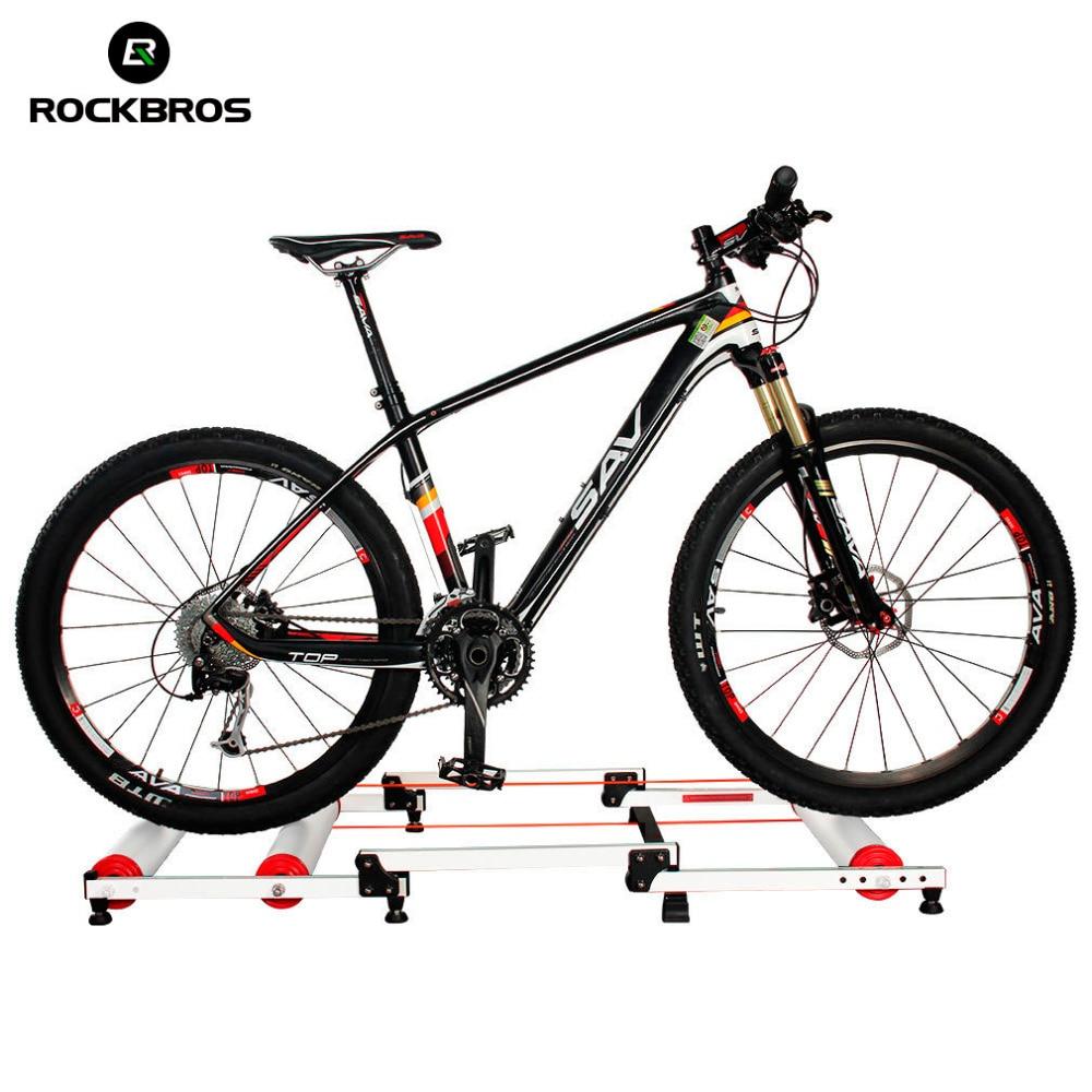 ROCKBROS Vélo Formateur Rouleau Vélo Outil de Formation Vélo Exercice Fitness Station Vélo Formateur Outil Station 3 Stade Pliage