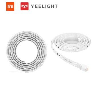 Xiao mi Yeelight bande de lumière intelligente PLUS 1 m extensible LED RGB couleur bande lumières travail Alexa Google Assistant mi domotique