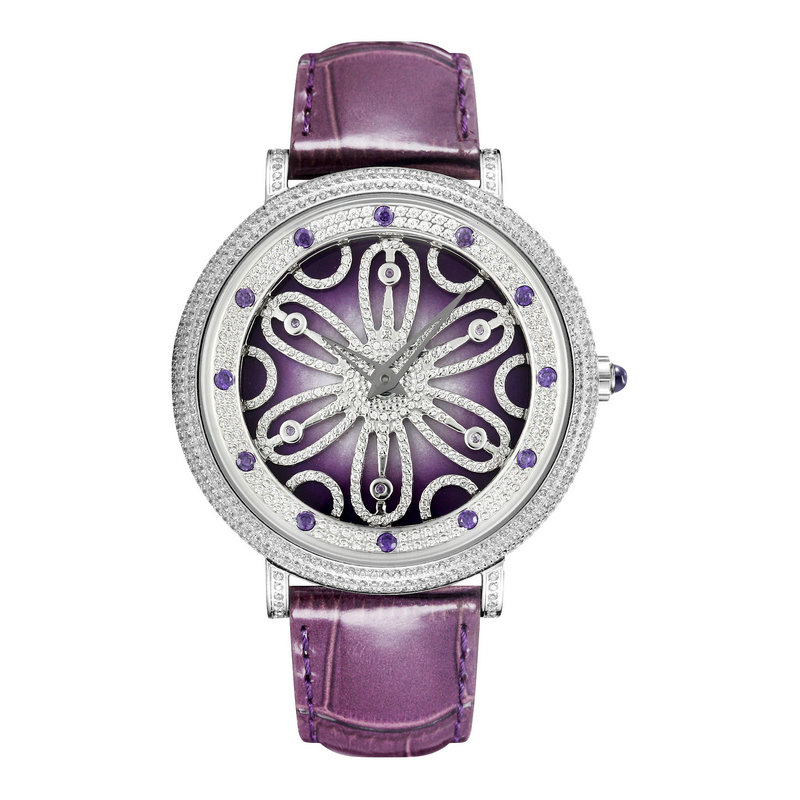 When The Quartz Rotates, The Flower Is Neutral. The star Is Full Of 5A Cut Zircon. The Large Dial Is For Men And Women.When The Quartz Rotates, The Flower Is Neutral. The star Is Full Of 5A Cut Zircon. The Large Dial Is For Men And Women.