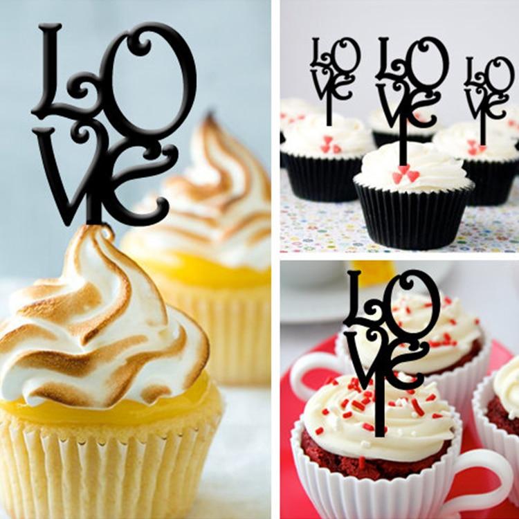 ツ)_/¯Free Shipping 8pcs/Set Black/ Gold/ Silver Love Wedding Party ...