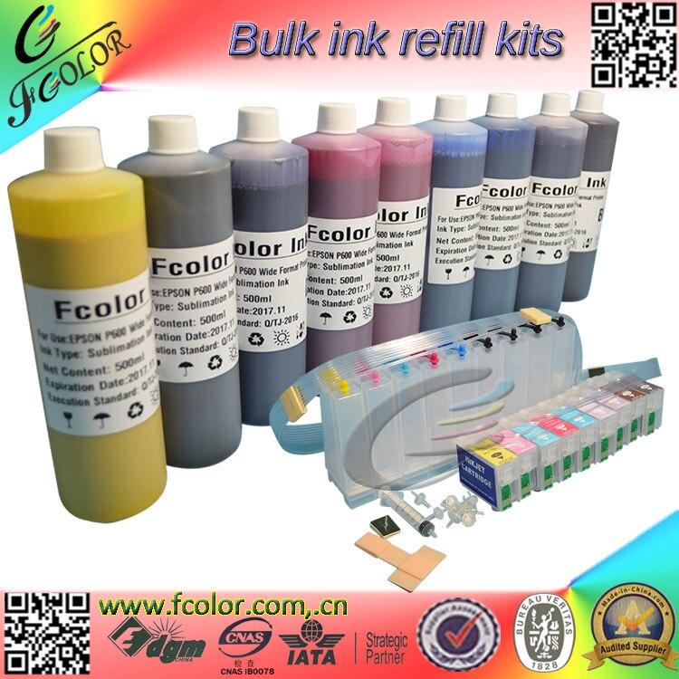 Набор чернил для сублимации краски P600, емкость 500 мл * 9 цветов, набор для термопечати