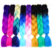 Silky Strands Ombre Synthetic Kanekalon Braiding Hair For Crochet Jumbo Braids False Hair Extensions(China)