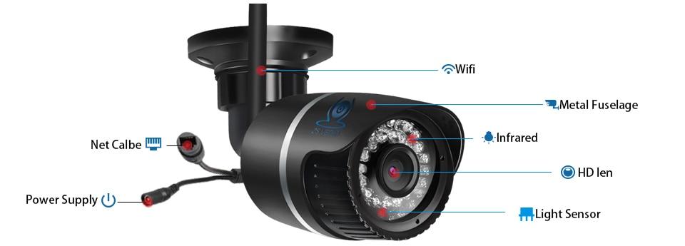 ZSVEDIO Surveillance Cameras IP Camera OnVif IP Cameras Wi Fi IP66 Outside Wireless 1080P HD 2MP Black 2.8mm Camera CCTV (14)