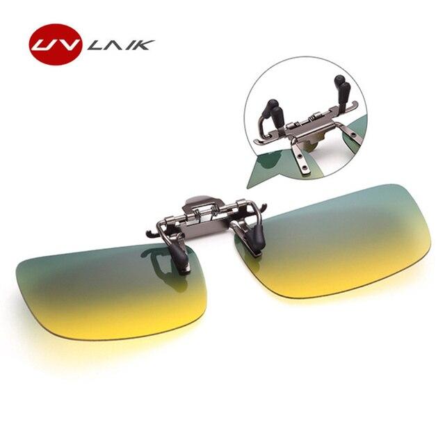 UVLAIK Polarisées Clip Sur des lunettes de Soleil Hommes Femmes Conduite  Jour et Vision nocturne Lunettes ac9b8722aeeb