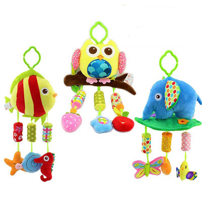Soft Crib Toys : M baby mobile toy soft plush wind chimes musical rattle