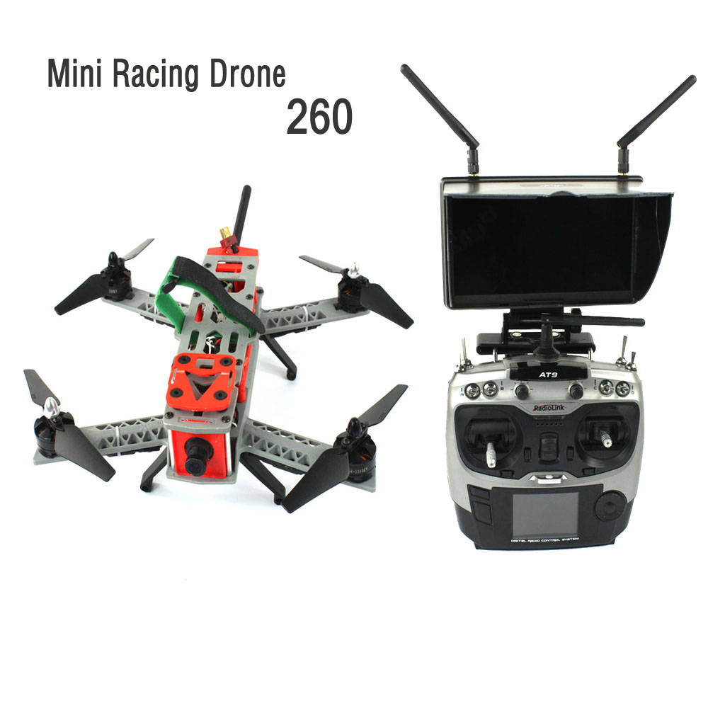JMT Mini 260 SP Racing F3 DIY Quacopter ARF/No Battery FPV RC Drone 2.4G 9CH 5.8G 700TVL HD Camera Light Carrying Bag F16051-J jmt x180 diy quadcopter pnp assembled racer kit 180mm super light mini rc racing drone with osd fpv hd camera no rx tx battery