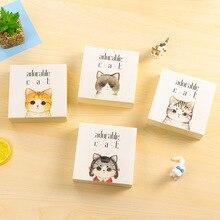 300 sheets Korean Cute Cat Graffiti Scratch Note Kawaii Portable Memo Papers Planner Supplies