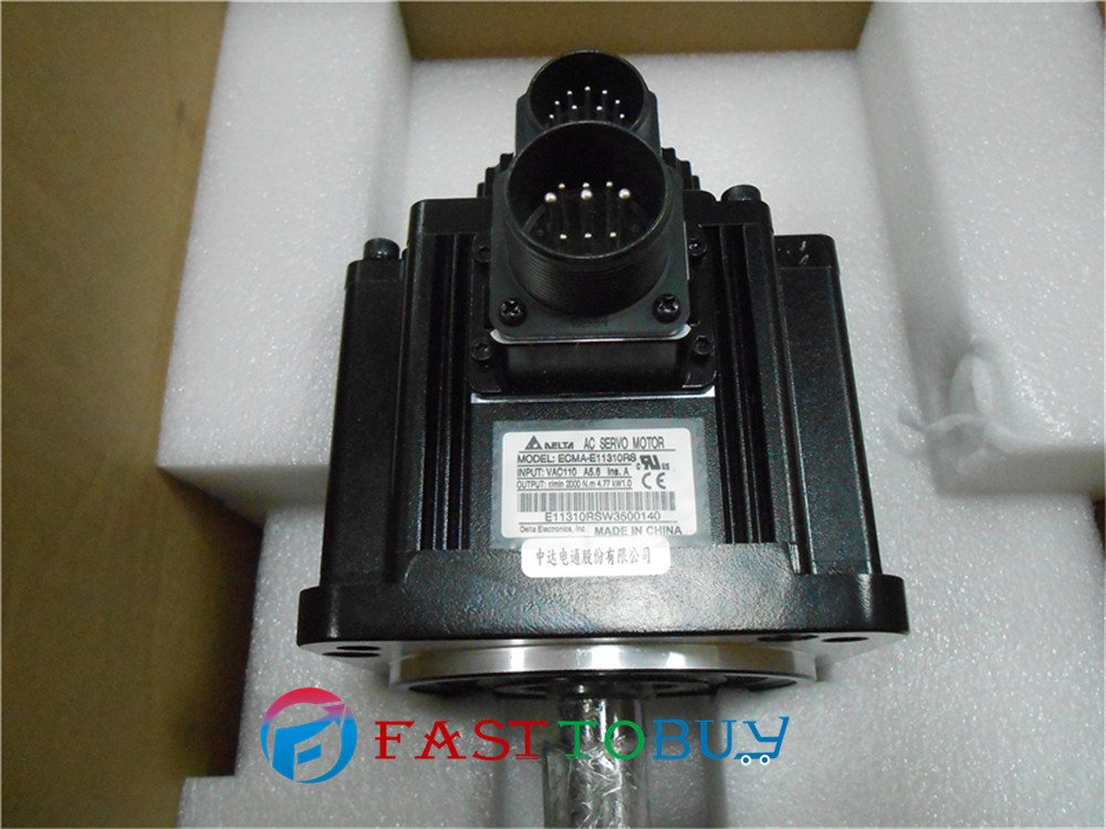 Delta AC Servo Motor 220V 1KW 4.77NM 2000rpm 130mm ECMA-E11310RS  with Keyway oil seal New new original ecma e21315rs 220v 1 5kw 7 16nm 2000rpm 130mm ac servo motor with oil seal