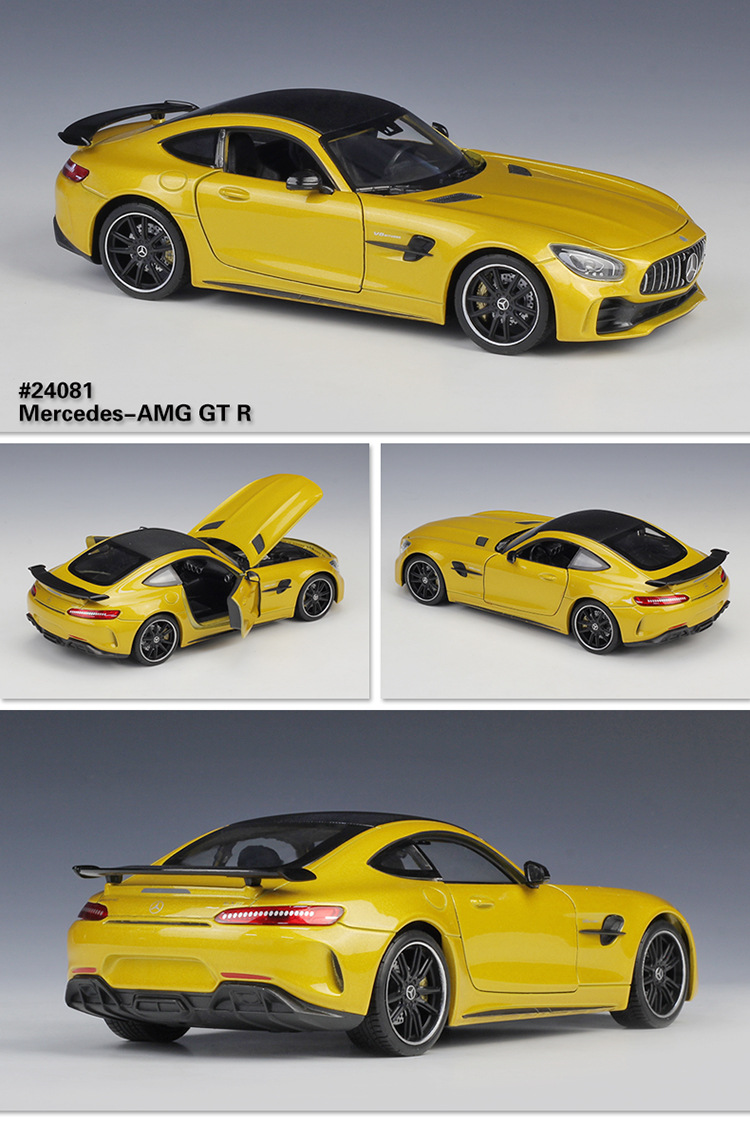 Welly 1 24 Scale Alloy Racing Car Model Toy For Mercedes Benz Amg Gtr Sports Car Metal Toy Car For Kids Gift With Original Box
