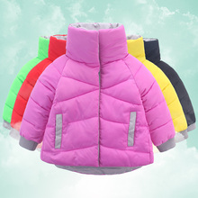 Winter Jacket for Girl Children's Winter Jacket Cotton Warm Coat Candy Colors Baby Girl Snowsuit Kid Clothing Winter Girl Parka