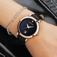 2016 SANDA New Fashion Romantic Women Watches Women Luxury Quartz Watch Ladies Leather Dress Wristwatch Montre