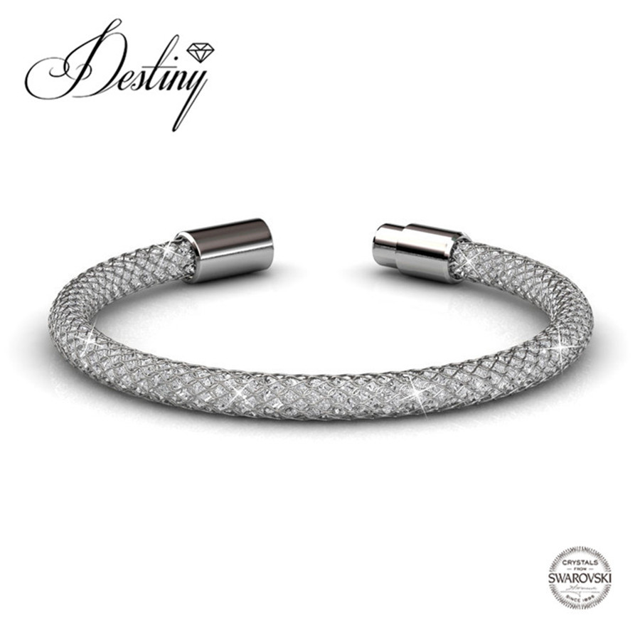 Destiny Jewellery 2017 Hot sale crystals bracelets Embellished with crystals from Swarovski bracelet Mesh bracelet DB0044