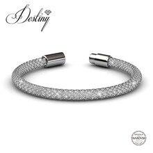 Destino de la Joyería 2017 de la venta Caliente Adornado con cristales de Swarovski cristales pulseras pulsera brazalete De Malla DB0044