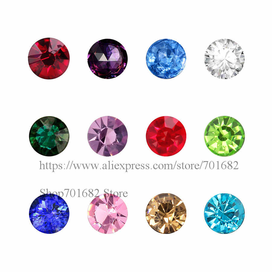 Wholesale 10pcs glass birthstone charms Floating Locket Charms 12 colors can choose fit living memory photo locket