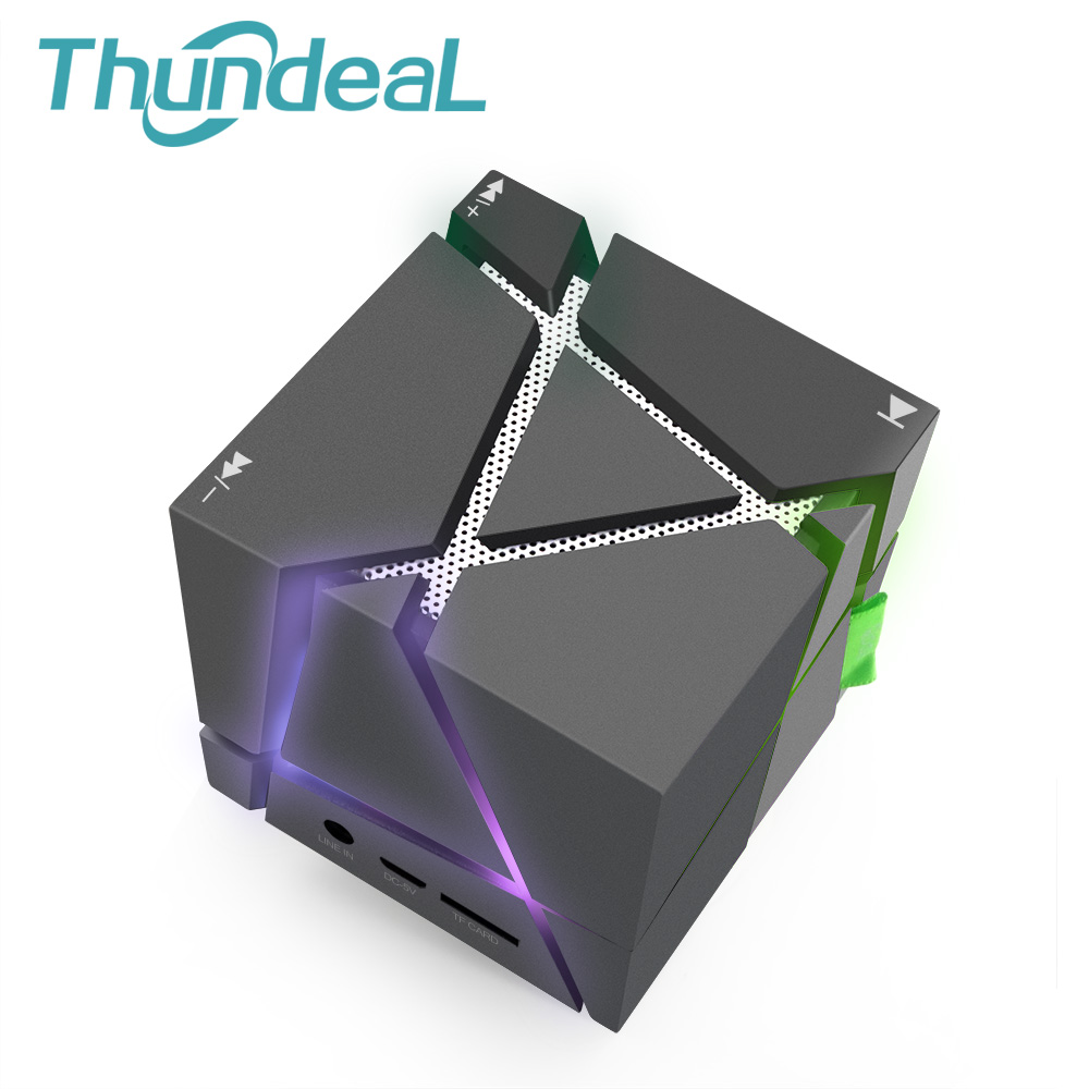 Constructive Magic Cube Qone1 Mini Bluetooth Wireless Speaker Portable Subwoofer Speaker Music Player With Led Tf Fm Radio Rubiks Altavoz Delicacies Loved By All Speakers Consumer Electronics