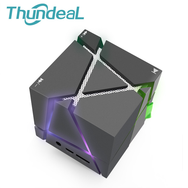 US $27 88 |Magic Cube Qone1 Mini Bluetooth Wireless Speaker Portable  Subwoofer Speaker Music Player With LED TF FM Radio Rubik's Altavoz-in  Portable