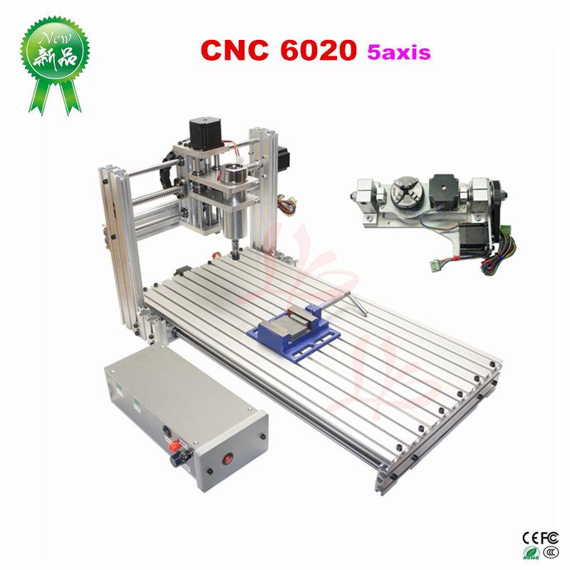 FAI DA TE mini 6020 in metallo Router di legno di CNC macchina Per Incidere di CNC ER11 porta USB 60x20 cm