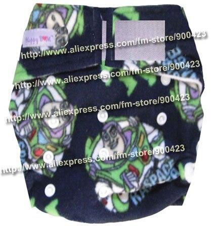 Детских подгузников-1 шт. тканевых подгузников+ 2 шт. вставок), тканевые подгузники в карманном стиле - Цвет: robot