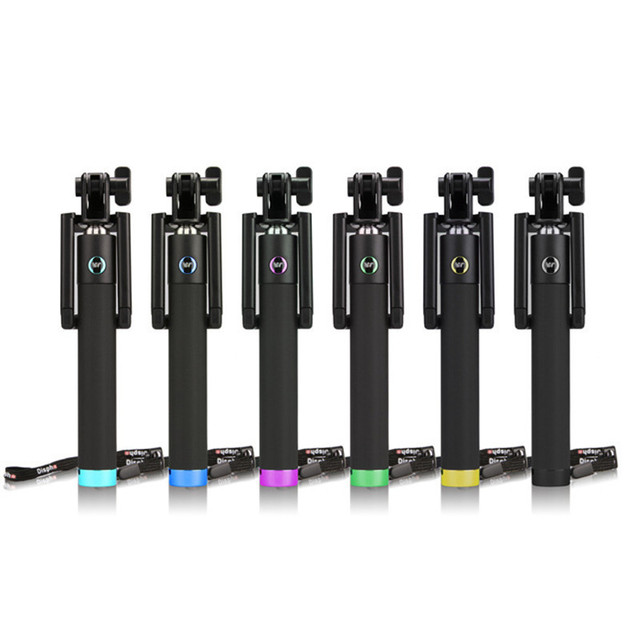 Universal extendable video cable perche selfies stick monopod for samsung galaxy s5 s4 s3