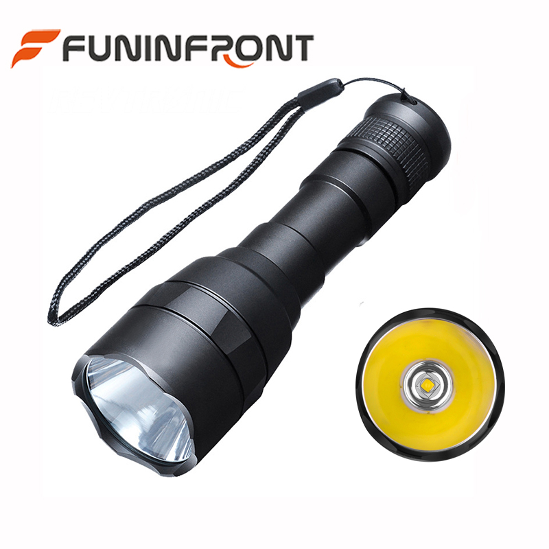 Water Resistant Outdoor LED Torch 5 Light Gears 1000 Lumen CREE XML2 High Range LED Flashlight Working with 18650 li-ion Battery
