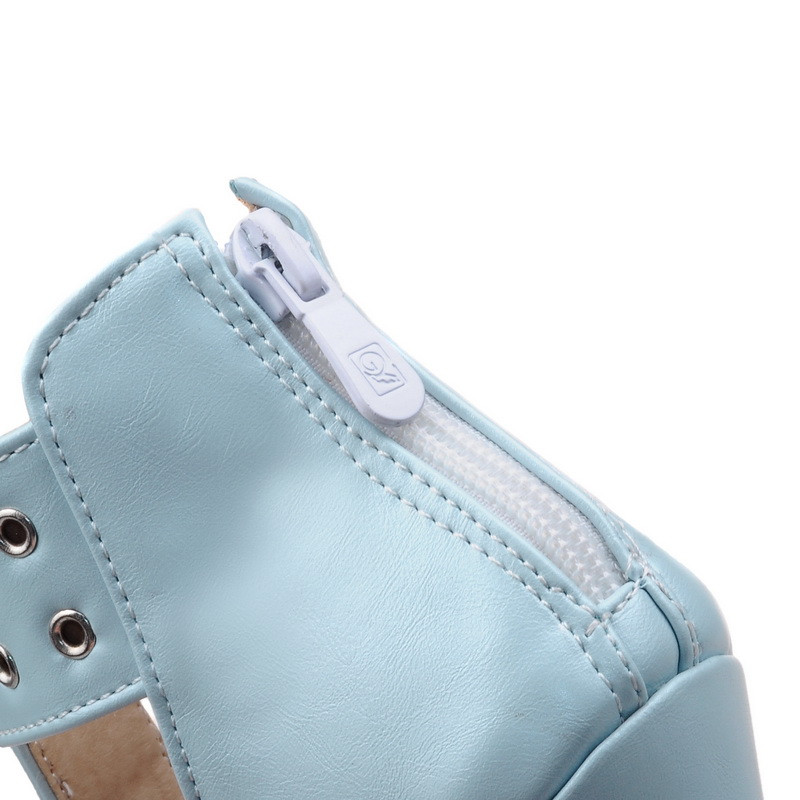 ANMAIRON Summer Sandals Boots Women Boots Height Increasing Sexy Women Sandals Platform Boots Black White Slip-On Sandals Boots